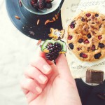 Chilli chocolate and mulberries cake