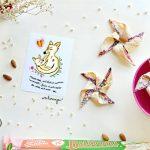 Girandole gluten free di brisée, mirtilli e mandorle – idea festa della mamma.