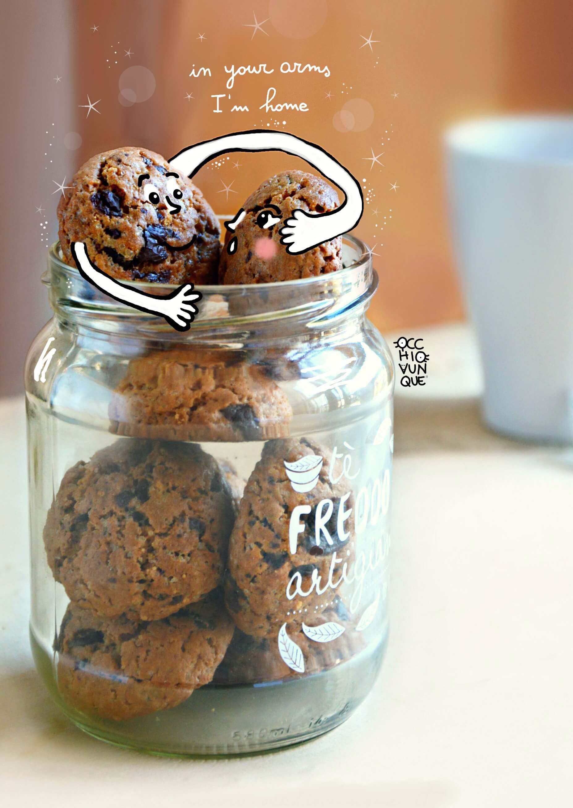 cookies al cioccolato biscotti senza burro