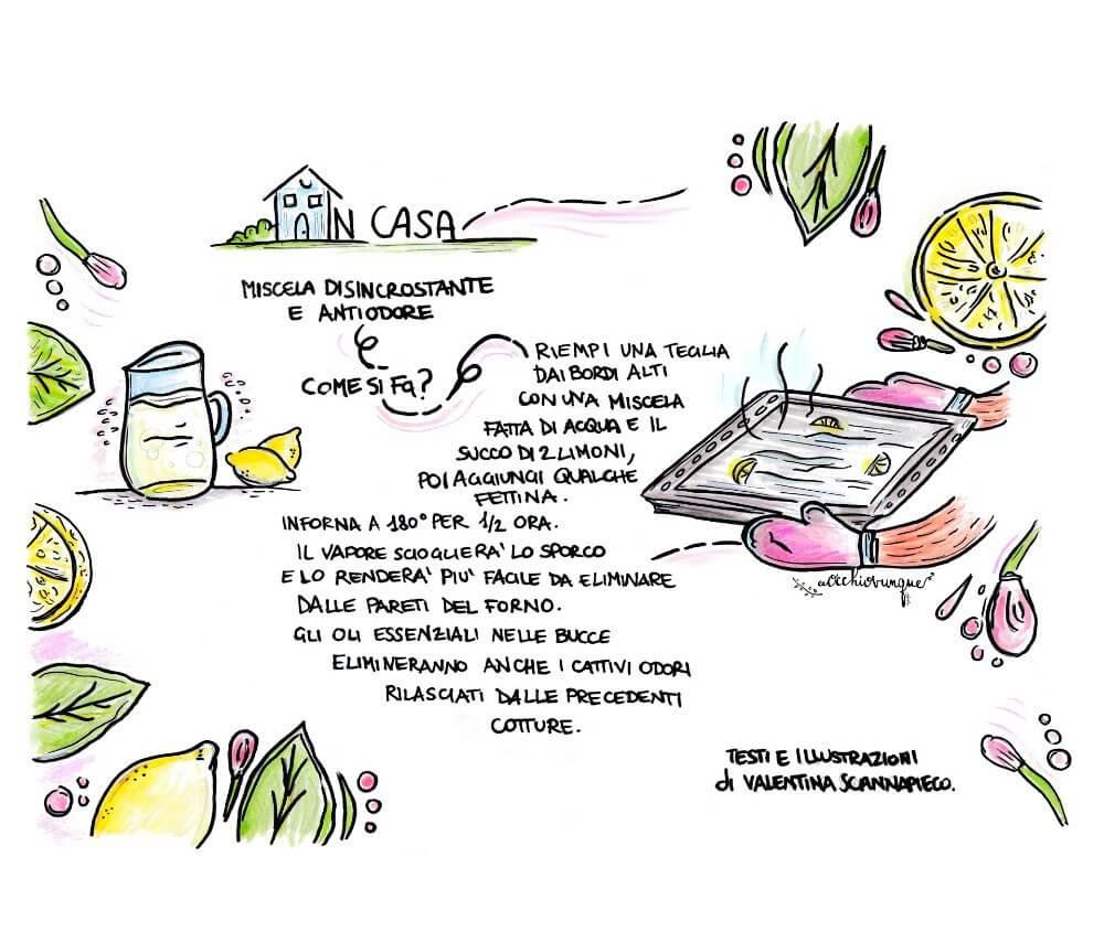 benefici limone pulire forno