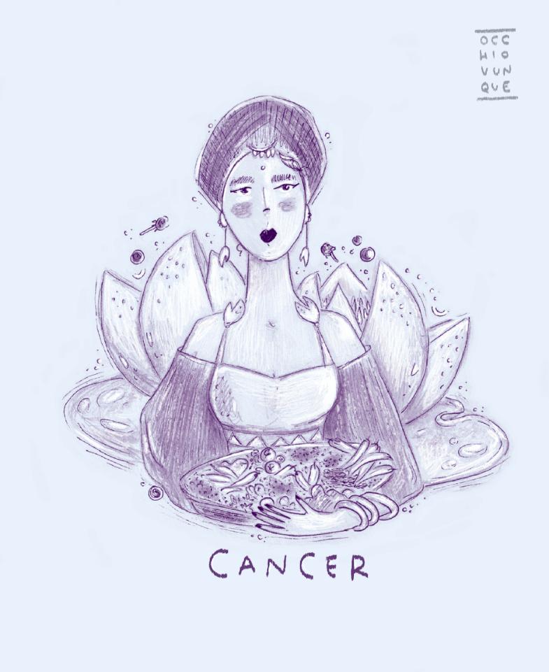 oroscopo cancro gastronomico occhiovunque tarot_girl