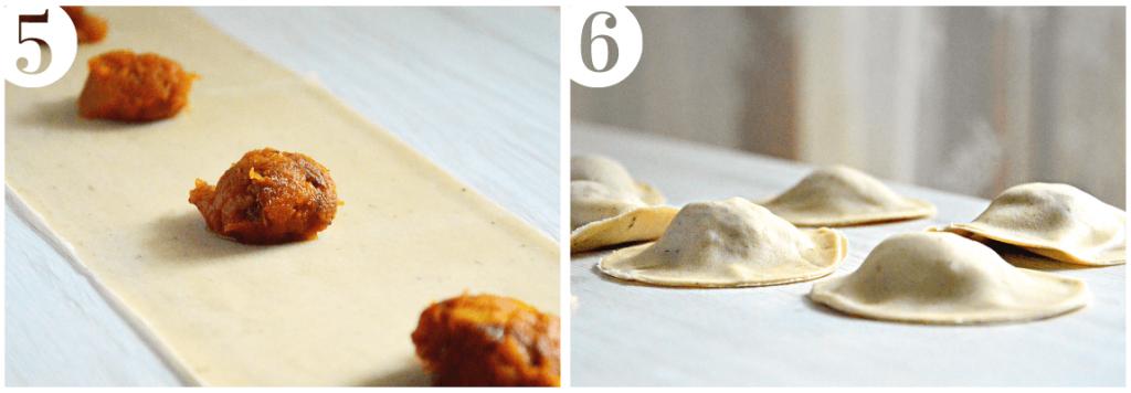 ravioli di zucca e salsa al parmigiano e aceto senza burro